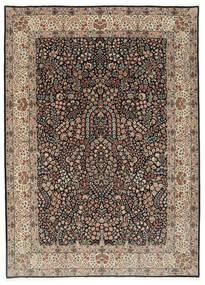 Kerman Lavar Teppich 250X348 Echter Orientalischer Handgeknüpfter Hellgrau/Schwartz Großer (Wolle/Seide, Persien/Iran)
