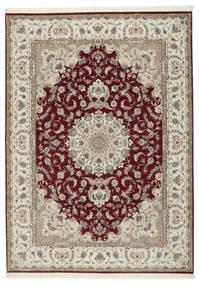 Täbriz 50 Raj Mit Seide Teppich 248X347 Echter Orientalischer Handgeknüpfter Hellgrau/Dunkelrot (Wolle/Seide, Persien/Iran)