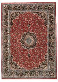 Ilam Sherkat Farsh Teppich  248X340 Echter Orientalischer Handgeknüpfter Dunkelrot/Dunkelgrau (Wolle/Seide, Persien/Iran)