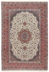 Isfahan Seidenkette Teppich  255X374 Echter Orientalischer Handgeknüpfter Hellgrau/Braun Großer (Wolle/Seide, Persien/Iran)