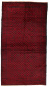 Belutsch Teppich  106X194 Echter Orientalischer Handgeknüpfter Dunkelrot (Wolle, Afghanistan)