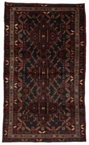 Belutsch Teppich  115X196 Echter Orientalischer Handgeknüpfter Dunkelbraun/Dunkelrot (Wolle, Afghanistan)