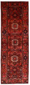 Hamadan Teppich  104X315 Echter Orientalischer Handgeknüpfter Läufer Dunkelrot/Rost/Rot (Wolle, Persien/Iran)