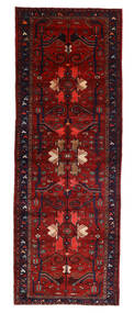 Hamadan Teppich  107X304 Echter Orientalischer Handgeknüpfter Läufer Dunkelrot/Rost/Rot (Wolle, Persien/Iran)