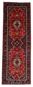 Hamadan Teppich  112X314 Echter Orientalischer Handgeknüpfter Läufer Dunkelrot/Rost/Rot (Wolle, Persien/Iran)