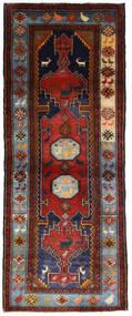 Hamadan Teppich  111X279 Echter Orientalischer Handgeknüpfter Läufer Dunkelrot/Dunkelbraun (Wolle, Persien/Iran)
