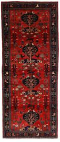 Hamadan Teppich  115X300 Echter Orientalischer Handgeknüpfter Läufer Dunkelrot/Dunkelbraun (Wolle, Persien/Iran)