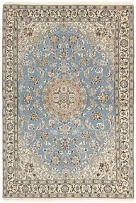 Nain 9La Teppich 115X175 Echter Orientalischer Handgeknüpfter Hellgrau/Beige (Wolle/Seide, Persien/Iran)