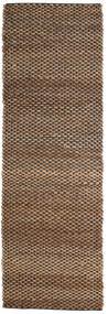 Outdoor-Teppich Siri Jute - Natural/Schwarz Teppich  80X250 Echter Moderner Handgewebter Läufer Braun/Dunkelbraun (Jute-Teppich Indien)