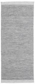 Serafina - Dunkelgrau Melange Teppich 100X250 Echter Moderner Handgewebter Läufer Hellgrau (Wolle, Indien)