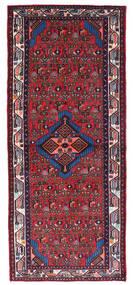 Hamadan Teppich  80X190 Echter Orientalischer Handgeknüpfter Läufer Dunkelrot/Schwartz (Wolle, Persien/Iran)