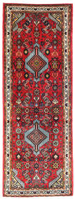 Hamadan Teppich  70X193 Echter Orientalischer Handgeknüpfter Läufer Dunkelbraun/Rot (Wolle, Persien/Iran)
