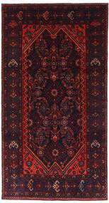 Hamadan Teppich  120X228 Echter Orientalischer Handgeknüpfter Dunkelrot (Wolle, Persien/Iran)