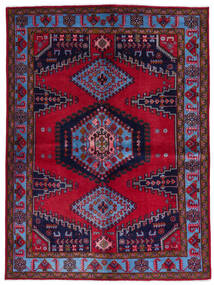 Wiss Teppich 157X211 Echter Orientalischer Handgeknüpfter Dunkelrot/Dunkellila (Wolle, Persien/Iran)