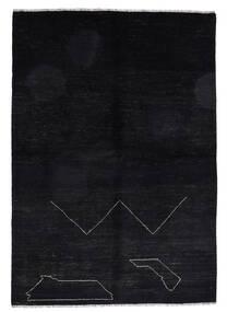 Moroccan Berber - Afghanistan Teppich  163X235 Echter Moderner Handgeknüpfter Schwartz (Wolle, Afghanistan)