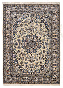 Nain Teppich  167X233 Echter Orientalischer Handgeknüpfter Hellgrau/Dunkelgrau/Beige (Wolle, Persien/Iran)