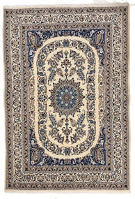 Nain Teppich  166X244 Echter Orientalischer Handgeknüpfter Hellgrau/Beige/Dunkelgrau (Wolle, Persien/Iran)