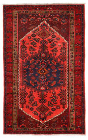 Zanjan Teppich  132X210 Echter Orientalischer Handgeknüpfter Dunkelrot/Rot (Wolle, Persien/Iran)