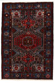 Saveh Teppich  142X210 Echter Orientalischer Handgeknüpfter Dunkelrot (Wolle, Persien/Iran)
