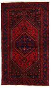 Hamadan Teppich  138X240 Echter Orientalischer Handgeknüpfter Dunkelrot/Rost/Rot (Wolle, Persien/Iran)
