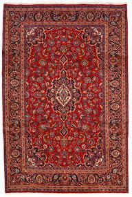Keshan Teppich  200X300 Echter Orientalischer Handgeknüpfter Dunkelrot/Rost/Rot (Wolle, Persien/Iran)