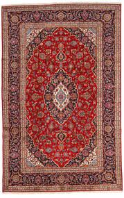 Keshan Teppich 192X303 Echter Orientalischer Handgeknüpfter Dunkelrot/Dunkelbraun (Wolle, Persien/Iran)