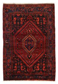 Zanjan Teppich  144X208 Echter Orientalischer Handgeknüpfter Dunkelrot (Wolle, Persien/Iran)