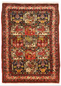 Bachtiar Collectible Teppich 108X150 Echter Orientalischer Handgeknüpfter Dunkelbraun/Rost/Rot (Wolle, Persien/Iran)
