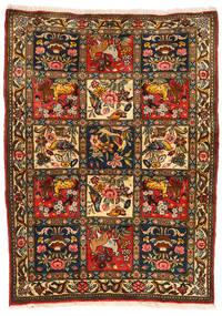 Bachtiar Collectible Teppich 107X145 Echter Orientalischer Handgeknüpfter Schwartz/Rot (Wolle, Persien/Iran)