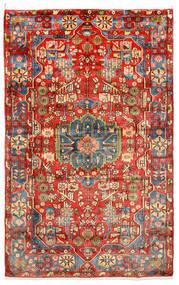 Nahavand Old Teppich  150X238 Echter Orientalischer Handgeknüpfter Dunkelrot/Rot (Wolle, Persien/Iran)