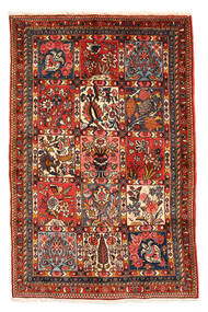 Bachtiar Collectible Teppich 98X150 Echter Orientalischer Handgeknüpfter Dunkelbraun/Dunkelrot (Wolle, Persien/Iran)