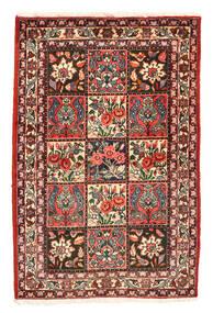 Bachtiar Collectible Teppich  105X158 Echter Orientalischer Handgeknüpfter Dunkelrot/Dunkelgrau (Wolle, Persien/Iran)