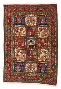 Bachtiar Collectible Teppich  108X156 Echter Orientalischer Handgeknüpfter Schwartz/Rot (Wolle, Persien/Iran)