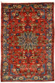 Nahavand Old Teppich  162X242 Echter Orientalischer Handgeknüpfter Dunkelrot/Dunkelbraun (Wolle, Persien/Iran)