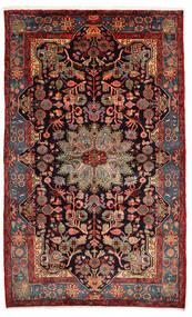 Nahavand Old Teppich 157X260 Echter Orientalischer Handgeknüpfter Dunkelrot/Dunkelbraun (Wolle, Persien/Iran)