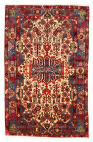 Nahavand Old Teppich 158X253 Echter Orientalischer Handgeknüpfter Dunkelrot/Dunkelbraun (Wolle, Persien/Iran)