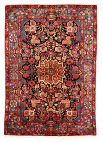 Nahavand Old Teppich  153X220 Echter Orientalischer Handgeknüpfter Dunkelrot/Rost/Rot (Wolle, Persien/Iran)