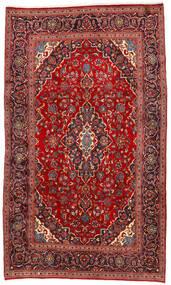 Keshan Teppich  192X325 Echter Orientalischer Handgeknüpfter Dunkelrot/Rost/Rot (Wolle, Persien/Iran)