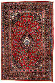 Keshan Teppich  195X294 Echter Orientalischer Handgeknüpfter Dunkelrot/Schwartz (Wolle, Persien/Iran)