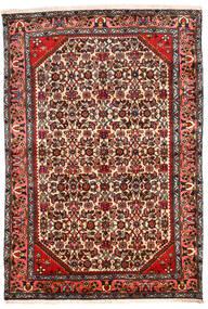 Hamadan Teppich  131X194 Echter Orientalischer Handgeknüpfter Dunkelbraun/Beige (Wolle, Persien/Iran)