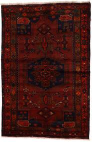 Zanjan Teppich 137X212 Echter Orientalischer Handgeknüpfter Dunkelbraun/Dunkelrot (Wolle, Persien/Iran)