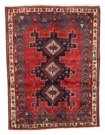 Afshar Teppich 125X167 Echter Orientalischer Handgeknüpfter Dunkelrot/Dunkelbraun (Wolle, Persien/Iran)