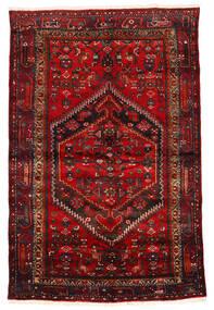 Zanjan Teppich 133X203 Echter Orientalischer Handgeknüpfter Dunkelrot/Dunkelbraun/Rost/Rot (Wolle, Persien/Iran)