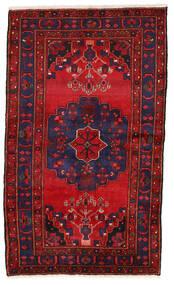 Zanjan Teppich  126X216 Echter Orientalischer Handgeknüpfter Dunkellila/Dunkelrot (Wolle, Persien/Iran)