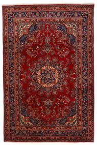 Maschad Teppich  192X294 Echter Orientalischer Handgeknüpfter Dunkelrot/Rot (Wolle, Persien/Iran)