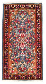Kerman Teppich 65X125 Echter Orientalischer Handgeknüpfter Rost/Rot/Dunkelgrau (Wolle, Persien/Iran)