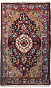 Kerman Teppich  92X158 Echter Orientalischer Handgeknüpfter (Wolle, Persien/Iran)