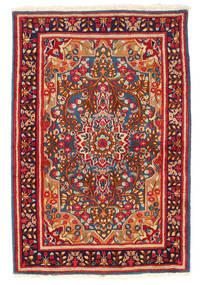 Kerman Teppich 119X178 Echter Orientalischer Handgeknüpfter Dunkelrot/Dunkellila (Wolle, Persien/Iran)