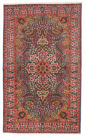 Kerman Teppich 147X245 Echter Orientalischer Handgeknüpfter Schwartz/Rost/Rot (Wolle, Persien/Iran)