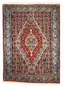 Senneh Teppich 72X102 Echter Orientalischer Handgeknüpfter Dunkelbraun/Schwartz (Wolle, Persien/Iran)